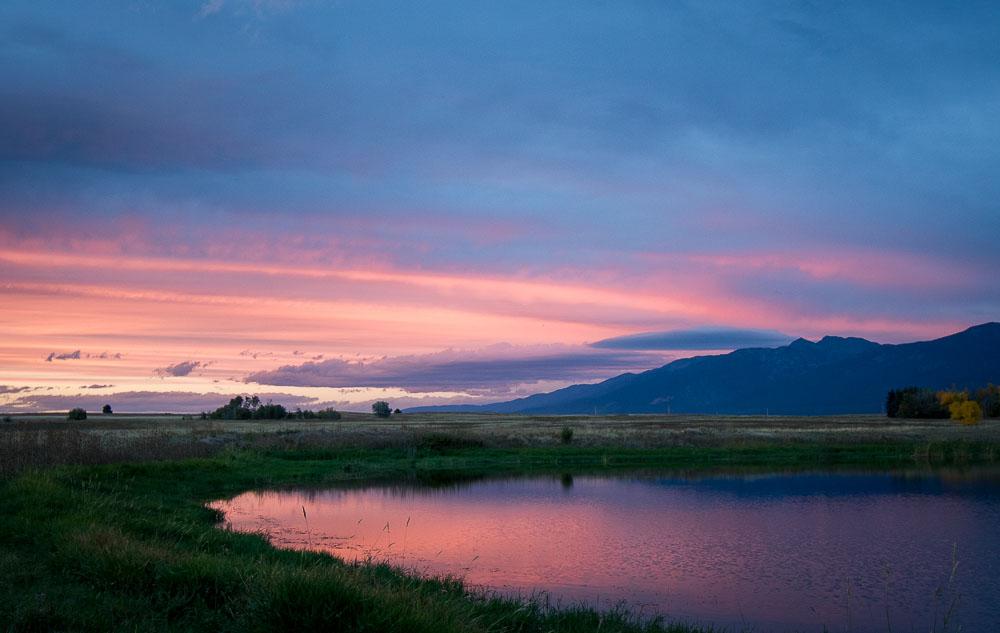 Things To Do in Missoula Montana Headline Image Ninepipe Wildlife Refuge Sunset